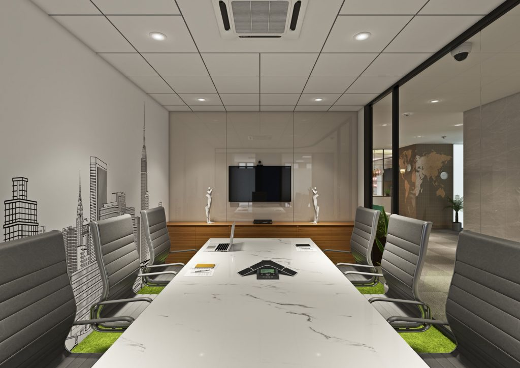 Conference room at paragraph coworking space