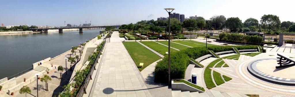 View of Riverfront Flower Park