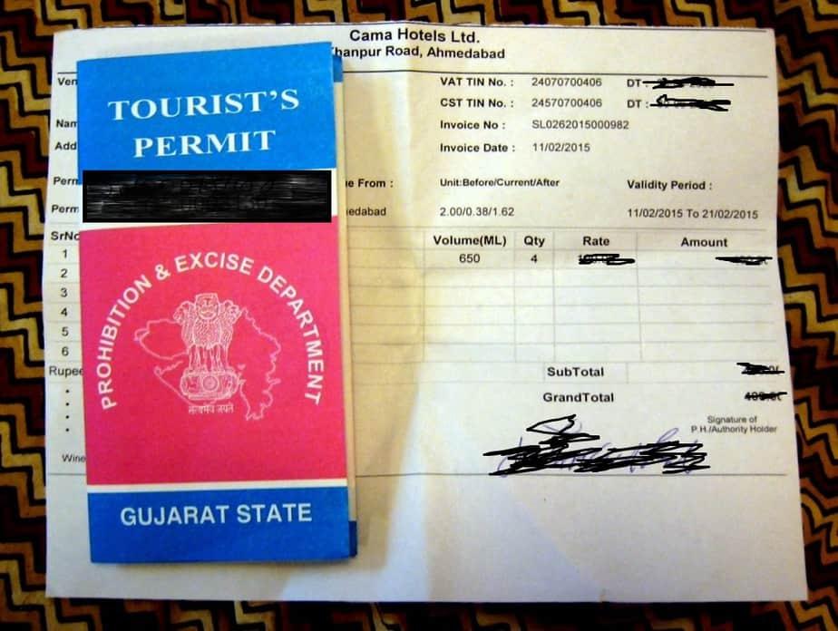 Liquor Permit (License) for Gujarat